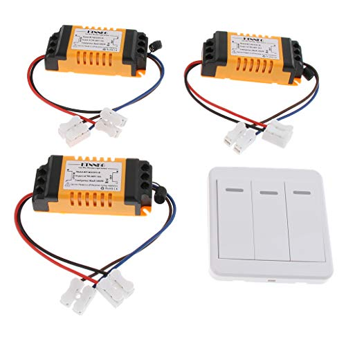 prasku Interruptor de Control Remoto Inalámbrico Inteligente Premium AC 90-250V 10A de 3 Canales