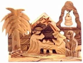 Holy Land Market Olive Wood Nativity -Christmas Village