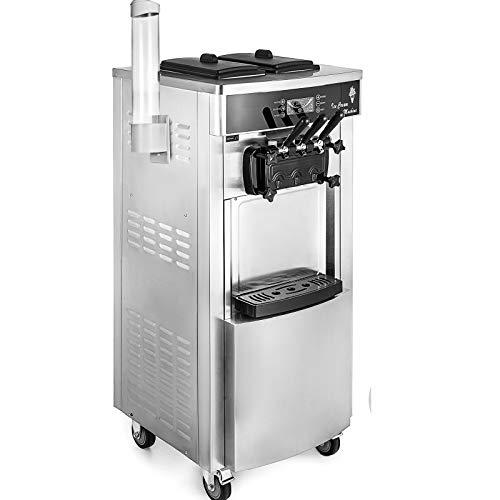 GIOEVO Macchina per Gelato Ice Cream Maker 20-28L / 5.3-7.4 Gallon per Ora Macchina Gelato Professionale 2200W 220V Macchina del Gelato