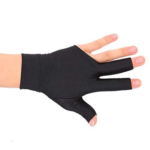 Alomejor Professionelle Snooker Billardhandschuhe Queue Poolhandschuhe Linke Hand Öffnen DREI Finger Spandex-Handschuh