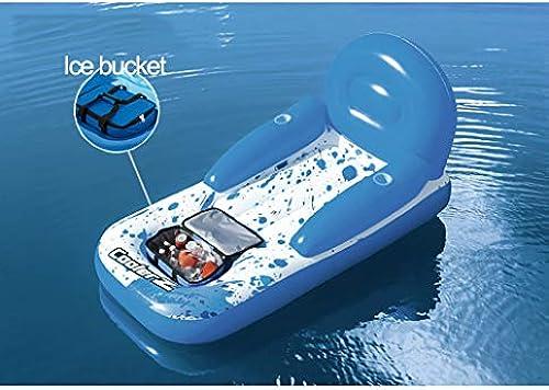 QJJML Aufblasbares Schwimmendes Bett, Schwimmendes Bett des Schwimmbades, Aufblasbare Spielwaren des FrüHen FrüHlinges Und des Sommers Im Freien Erwachsene Und Kinderwasserunterhaltungsstuhl,B