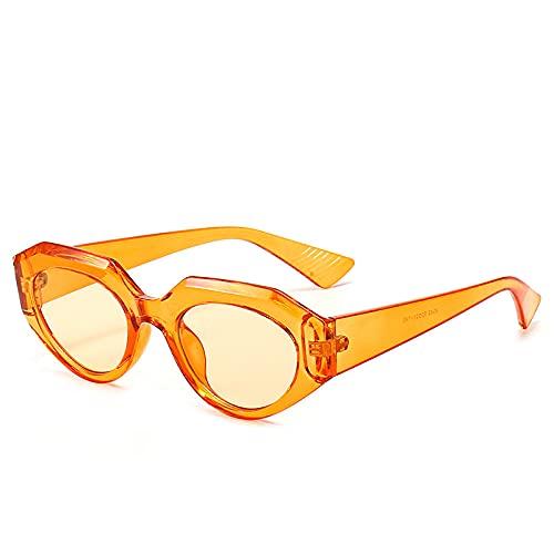 XDOUBAO Gafas de sol Caja pequeña marea gafas de sol hombres y mujeres moda coloreado gafas de sol casual Gafas de personalidad-Color foto_Leopardo