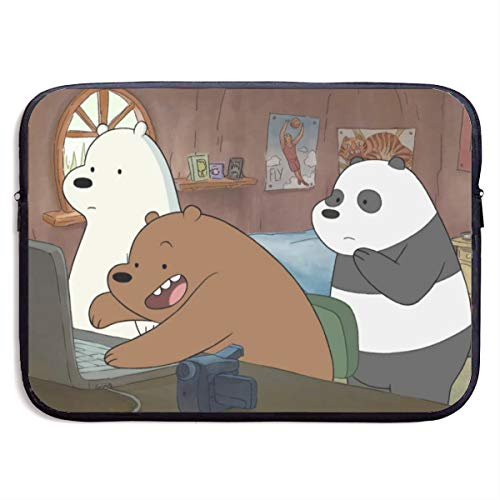 Anime We Bare Bears Laptop Sleeve Bag 15 inch Computer Case Tablet Briefcase Ultra Portable Protective