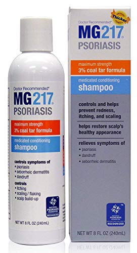 Psoriasis Medicated Conditioning 3% Coal Tar Formula Shampoo, 8 Fluid Ounce (2 Pack)