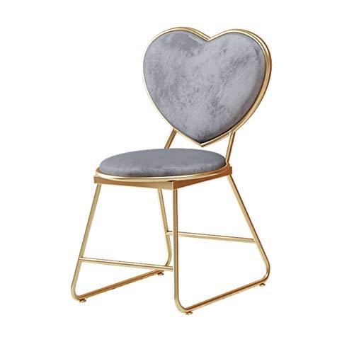 Skönhetsbutik Mottagning Pall, Kärlek Hjärta Form Ryggstöd Stol Flera Färger Kafé Dekorativa Pall Sits Höjd: 45 Cm(Color:C,Size:43 * 45 * 83CM)