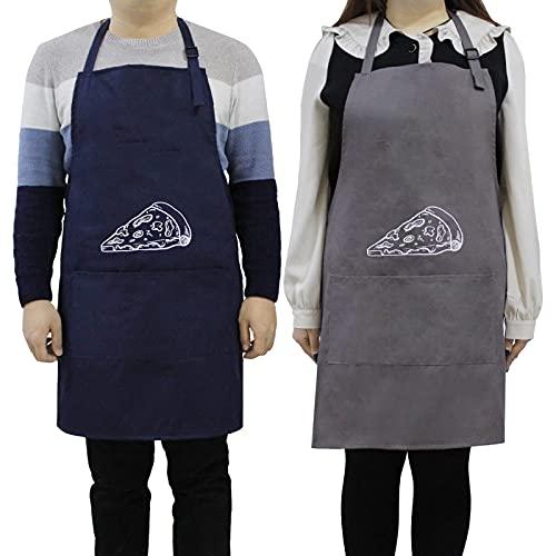TopHao Divertido juego de delantal para parejas,Delantal de chef de barbacoa para hombres y mujeres,Delantal de cocina