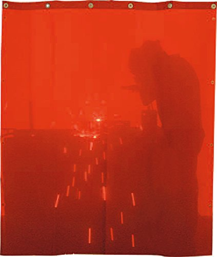 Solter 06183 Cortina de protección para soldadura, 2000 x 1400 mm, color naranja