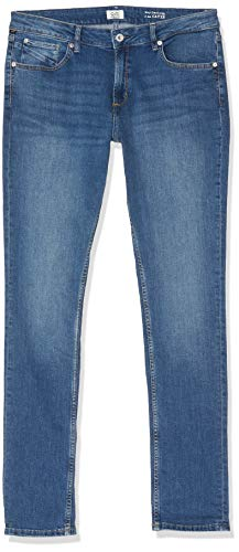 Q/S designed by Damen 45.899.71.3241 Slim Jeans, Blau (Blue Denim Medium 56z4),  (Herstellergröße: 44/34)