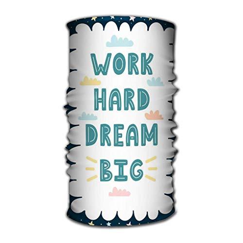Paquete multifuncional de pañuelo en la cabeza trabajar duro soñar tarjeta dibujada...