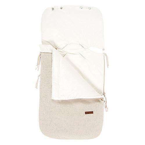 BO Baby\'s Only - 0+ Fußsack Autositz aus Baumwolle - Gefüttert - für 5- und 3-Punkt-Gurten - für Jungen und Mädchen - Sand