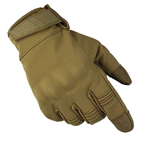 Impermeable Guantes de Moto Invierno Cálido Guantes de Esquí de Dedo Completo - Pantalla Táctil/Respirable/Elasticidad/Antideslizante/Anti Choque,Yellow,L