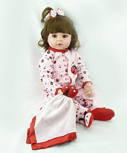 ZIYIUI 22 Pollici 55 cm Reborn Doll Bambolina rinata Bambola del Bambino Bambola in Vinile siliconico Bambola realistica Bella Ragazza con Una forcina