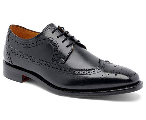 Anthony Veer Men's Regan Wingtip Oxford Full Grain Leather Shoes Goodyear Welt (7 D, Black - Full...
