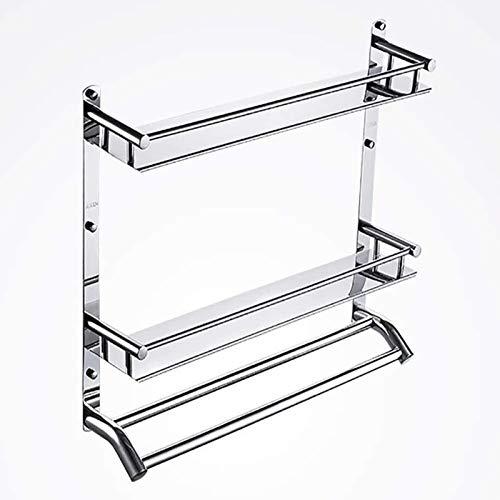 Plataforma de baño WC Rack de almacenamiento de artículos de tocador de toallas marco Punch-libre del acero inoxidable de acabado del marco de contención de cosméticos cepillo de dientes Estante de al