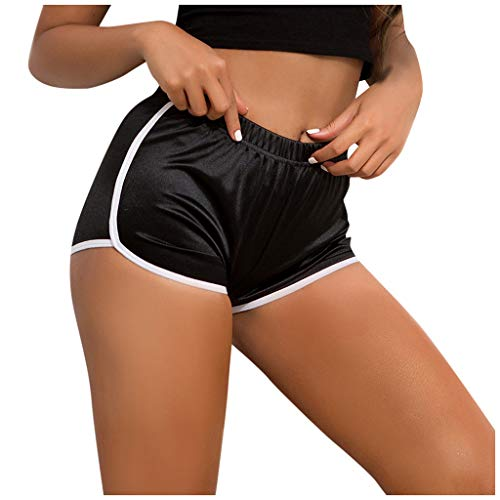 cinnamou Damen Kurze Shorts Hotpants Einfarbig Fitness Kurze Hose Kurz Yogahose Sport Sommer Sport Training Gym Yoga Fitness Yoga