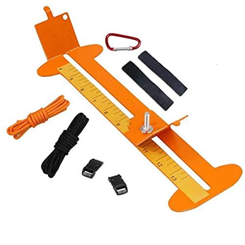 Eaarliyam Pulsera Plantilla Maker con la Cuerda del paracaídas, Muñequera Fabricante de Paracord Kit de Herramientas de Longitud Ajustable Metal Weaving Arte de DIY Herramienta del Fabricante de
