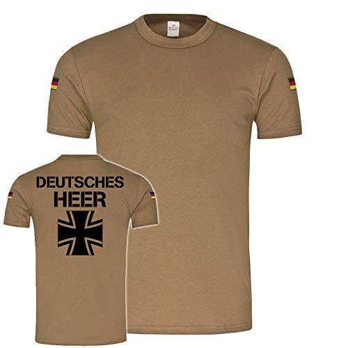 Copytec BW Tropen Deutsches HEER Bundeswehr Infanterie Truppe Soldat Kreuz Bund #22360, Größe:L, Farbe:Khaki