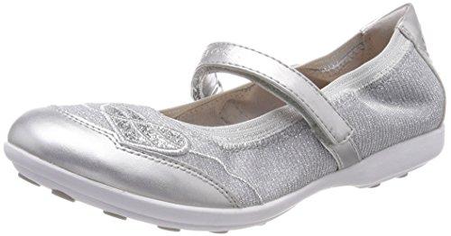 Geox Mädchen JR Jodie A Geschlossene Ballerinas, Silber (Silver), 30 EU