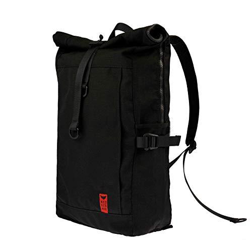 Red Rebane Gepäckträgerrucksack Purist Plus - Schwarz - Fahrradrucksack und Fahrradtasche in einem - funktional, schick & hochwertig - Gepäckträgertasche Handmade in Germany