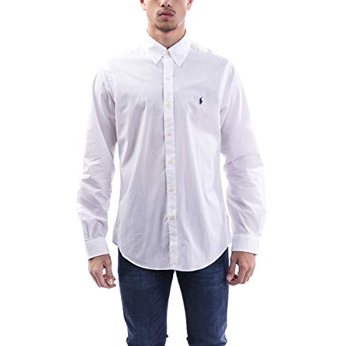 Polo Ralph Lauren Long Sleeve Sport Shirt Camicia Uomo Slim Fit-Navy-L