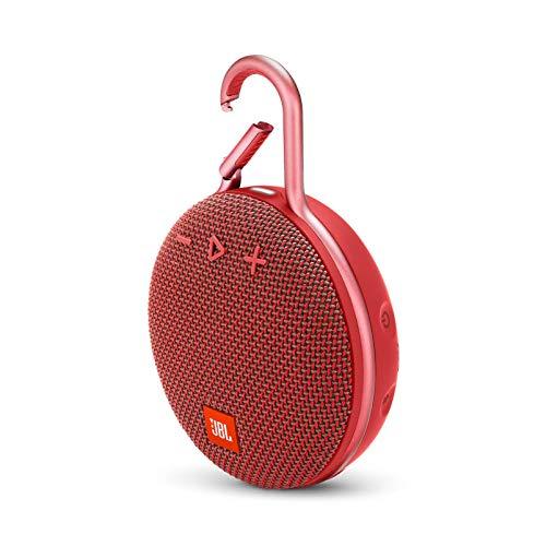 JBL Clip 3 Portable Waterproof Wireless Bluetooth Speaker - Red