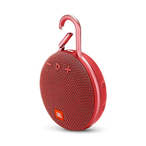 JBL Clip 3 Portable Waterproof Wireless Bluetooth Speaker - Red