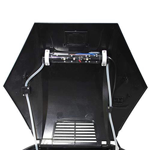 Ersatz-Deckel für AA-Aquarien 70 L Sechseck mit LED-Beleuchtung, schwarz