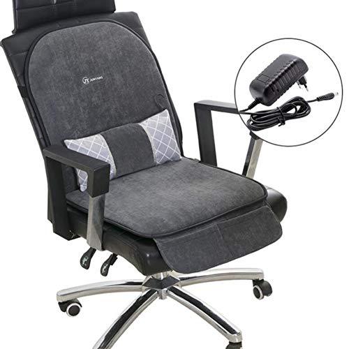 BILGFTG Comfort verwarmingskussen, elektrisch, zacht, ultrasnel, kunstvezel, wasbaar, voor auto, huis en bureaustoel (96 x 46 cm)