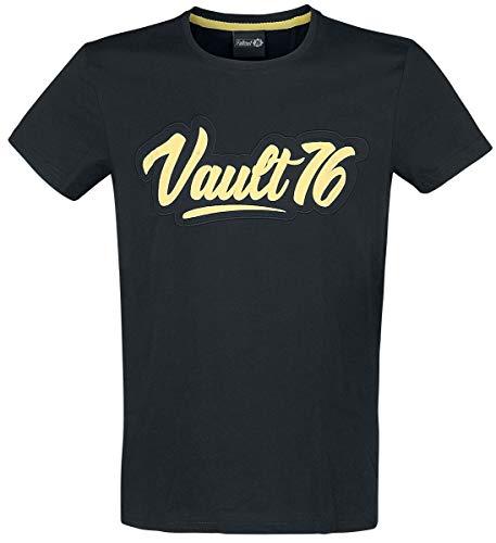 Fallout 76 - Vault 76 Männer T-Shirt schwarz M 100% Baumwolle Bethesda, Fan-Merch, Gaming
