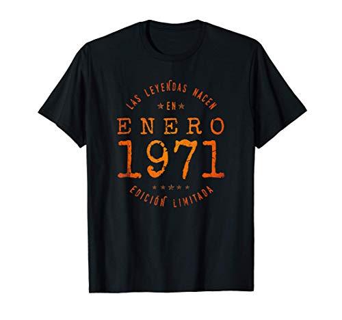 Las Leyendas nacen en Enero de 1971 - Regalo de 50 años Camiseta