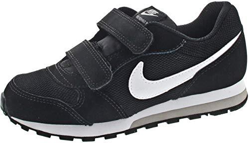 Nike Jungen Unisex-Kinder Md Runner 2 (Psv) Low-Top, Schwarz (Black/White-Wolf Grey), 32 EU