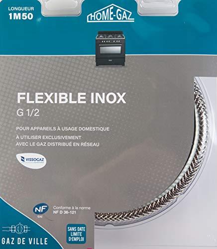 Home Gaz Flexible inox gaz naturel 1,5 m sans date de péremption