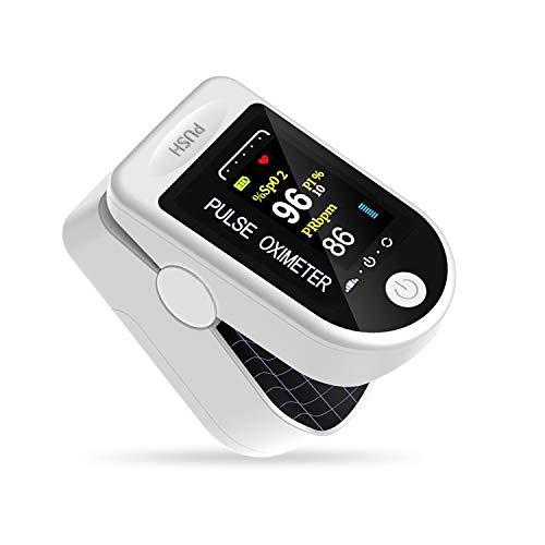 Bolsom fingertip Pulse oximeter, Multipurpose Digital Monitoring Pulse Meter Rate And SpO2 with OLED Digital Display (WHITE)