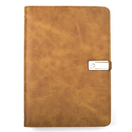 xna-bz Notizbuch A5-Geschäft Mit Mobilem Power-Notebook Zum Aufladen Von U-Disketten-Lederkombi