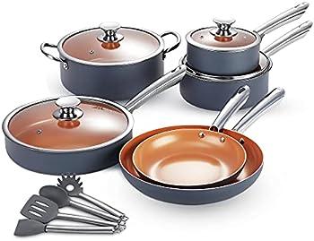 14-Piece Kutime Ceramic Coating Non-Sick Pots and Pans Set