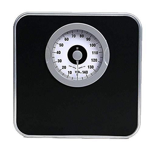 KHFFH Elektronische personenweegschaal, mechanische precisieweegschaal, weegschaal, professioneel analoog, groot dial, snel/accurate, geen knop of batterij, 150 kg / 330 lb