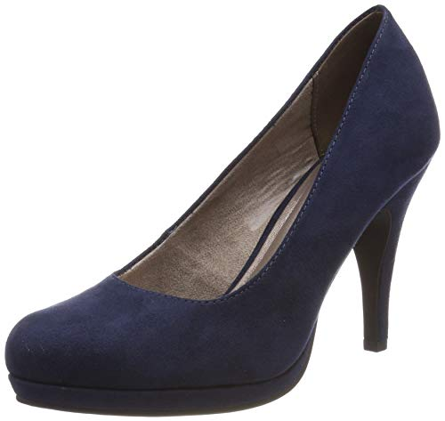Tamaris Damen 1-1-22407-22 Pumps, Blau (Navy 805), 36 EU