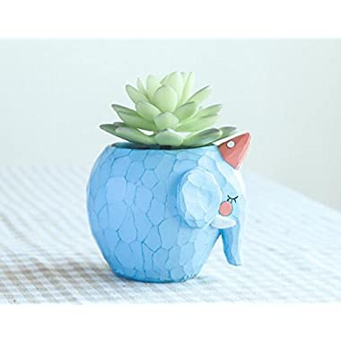 Cuteforyou Cute Animal Shaped Cartoon Home Decoration Succulent Vase Flower Pots