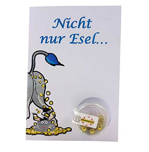 """STG – The Glamour Gift – X-Mas Card """"ESEL"""" Christmas Card, Christmas Greeting, Surprise Card, Nice for the Christmas Day,"""