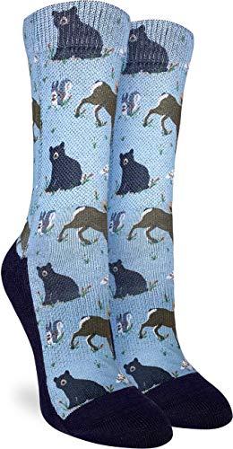 NA Calcetines con animales de montaña para mujer, azul, talla de calzado...