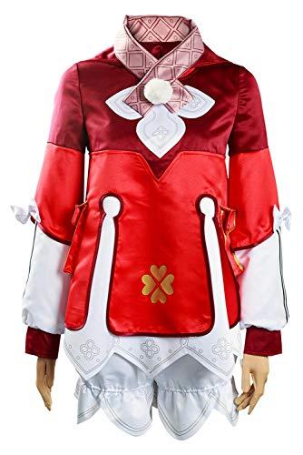 NoryNick Costume Cosplay di Genshin Impact Klee Abiti Vestito di Carnevale di Halloween, XL