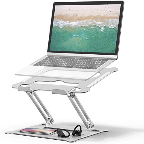 Laptop Stand, Coolwin Laptop Holder, Multi-Angle Stand with Heat-Vent to Elevate Laptop, Adjustable Notebook Stand for Laptop up to 17 inches, Compatible for MacBook Pro/Air, Surface Laptop and so on