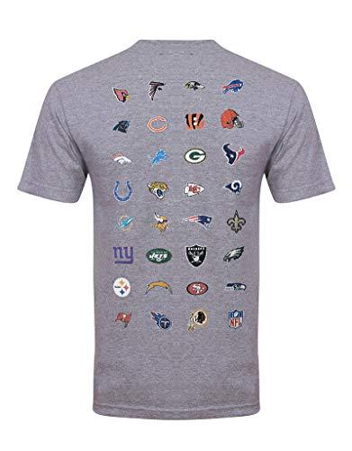 New Era NFL T Shirt NFL Team Logo Light Heather - XXL