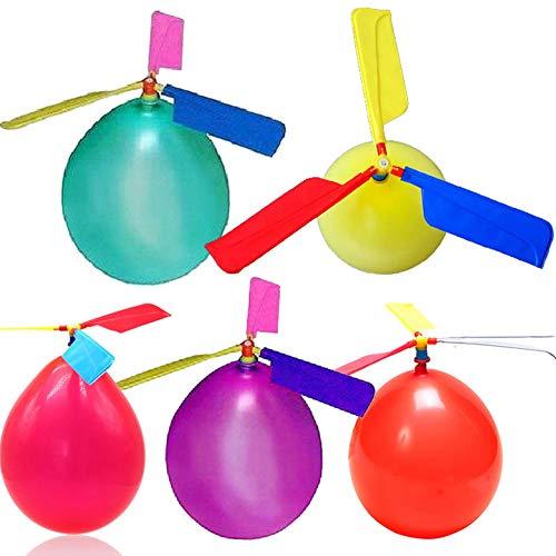 MAyouth Ballon-Hubschrauber Spielzeug, 10er Set Ballon-Hubschrauber Neuheit-Spielzeug mit Pfeife Kinder im Freien Spielen kreative lustige Spielzeug Ballon Propeller Kid Spielzeug