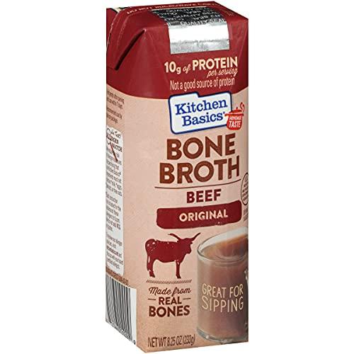 Kitchen Basics Original Beef Bone Broth, 8.25 fl oz (Pack of 12)