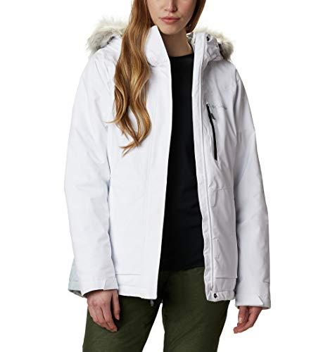 Columbia AVA Alpine Insulated Chaqueta De Esquí con Capucha, Mujer, Blanco, Gris (White/Cirrus Grey), M