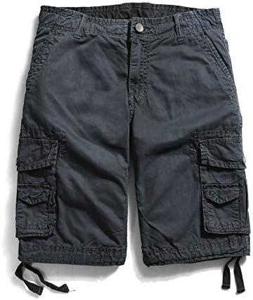 JiuRui Leisure Shorts Straight Pockets Cargo Shorts for Men Boardshorts Military Cotton Trousers 29-40 (Color : Dark Grey, Size : 31)
