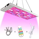 Koopower LED Grow Lights,Full Spectrum Panel Grow Lamp with Timer and Remote Control,Hanging White Grow Lights for Indoor Hydroponics Greenhouse Plants Veg and Bloom (Dimmable)