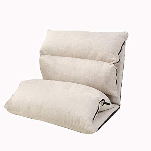 LJFYXZ Canapé Paresseux Chaise Grand canapé-lit Pliant Réglage à 5 Vitesses Coton et Lin Facile à enlever et à Laver Confortable et Respirant Chaise de Loisirs Portant Le Poids 150kg