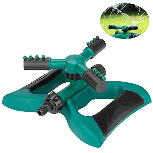 maoxiaohaier Garden Sprinkler Systeem, 360° Automatisch Draaibaar Verstelbare sprinkler hoofd, 3-arm sproeier Gazon Irrigatie Systeem, Grote Oppervlakte Bedek
